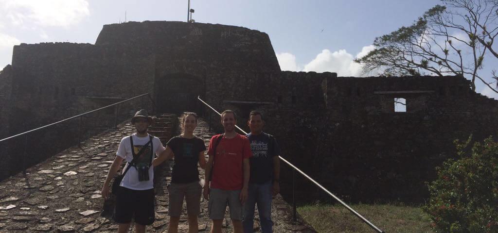 Miembros del CCT y de ARA Proyect en la reserva El Castillo, Ncaragua