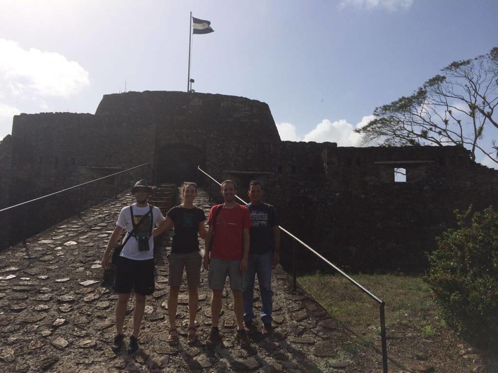 Miembros del CCT y de ARA Project en la Reserva El Castillo, Nicaragua