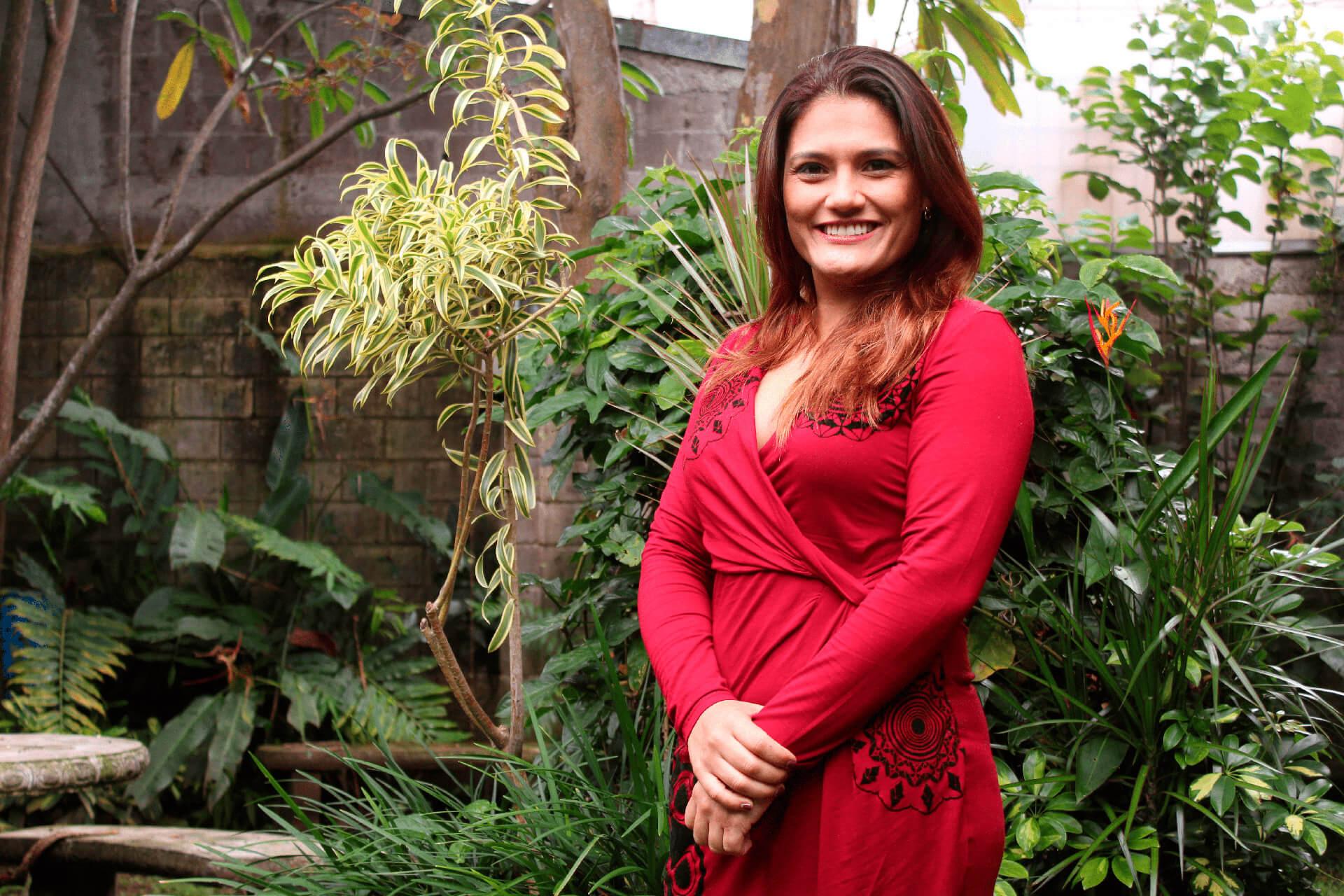 Pamela Castillo en su primer semana de trabajo con el Centro Científico Tropical